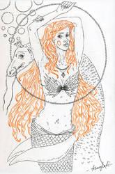 mermaid with her friend Lessie by annaorca