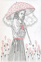 mushroom samurai by annaorca