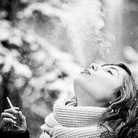 winter smoking .. by FttSniper