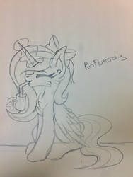 Sketch for RioFluttershy by GentleVixenGal135