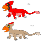 Cardinal-Lizards by KallyToonsStudios