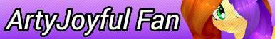 ArtyJoyful Fan Button by KittyBelli24