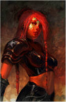 red girl by yozartwork