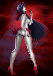 Commission - Sailor Mars vampire by SoniaMX