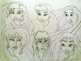 Disney Princesses Pt. 2 by Disneylover00