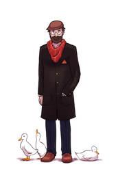 Duck man by thenugeart