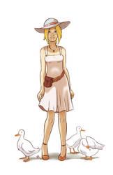 Duck girl by thenugeart