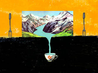 two forks and a cup by derkert