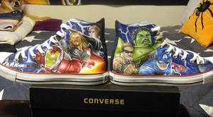 Avengers Chucks 2- Completed by GeeFreak