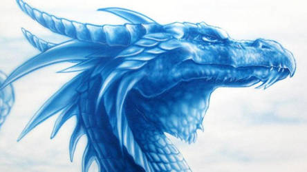 the blue dragon - detail by DMaerografie
