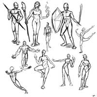 Poses by Dmeville