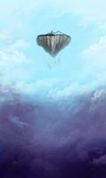 Floating Island WIP by Dmeville