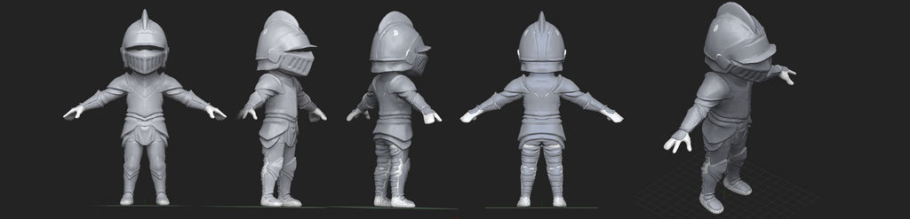 Mini Knight 3D Concept by Dmeville
