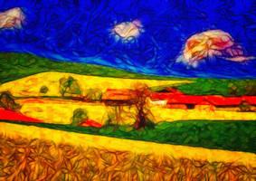 Paesaggio astratto by hiram67