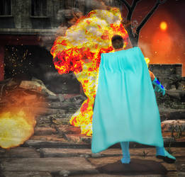 Lava man vs Wind man by hiram67