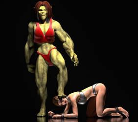 Ogress dominatrix by hiram67