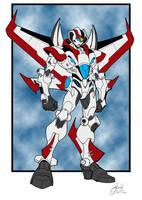 Guido's Neo-Seeker in G1 Jetfire colors by UrsaMagnus