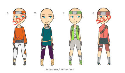 Naruto Outfits Adoptables #5 (OPEN) [3/4] 70pts! by shirayama