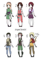 Naruto OC adop #15 Female and Male [6/6] CLOSED by shirayama