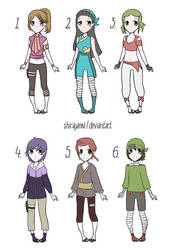 Naruto OC adop #16 Female and Male [4/6] OPEN by shirayama