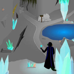 A Crystal Cave by IxiusDarks