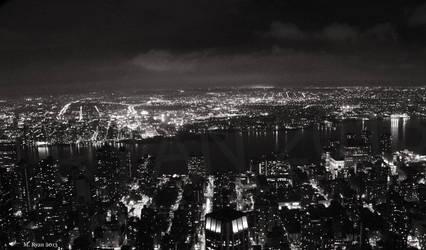 NY Skyline at Night by magicmeg8