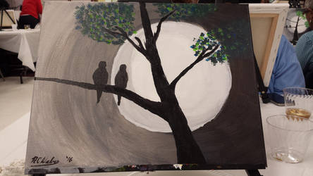 Birds Under Moonlight by NCWeber