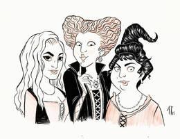 INKtober 2015 - Sanderson Sisters by AlyssaTallent