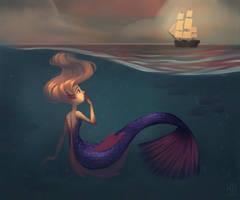 Boat Mermaid by AlyssaTallent