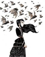 Inktober day 9- Screech by AlyssaTallent