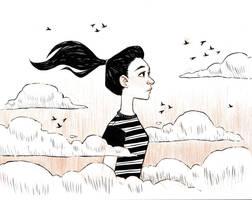 Inktober Day 19- Cloud by AlyssaTallent
