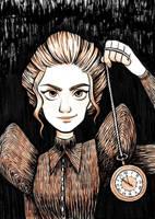 Inktober 2018 Day 14- Clock by AlyssaTallent