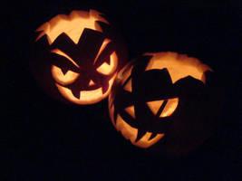 Halloween Pumpkins by DeadPeppermint