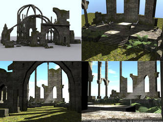 low poly ruins by ricolas71