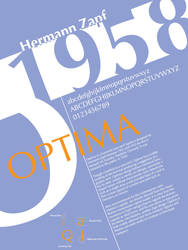 Font History Posters - Optima by Lludu