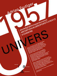 Font History Posters - Univers by Lludu
