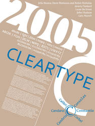 Font History Posters - ClearType by Lludu