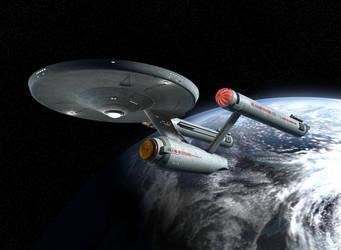 U.S.S. Enterprise by ryanrybot