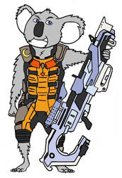 Rocket Buster Moon by sprywolf