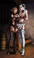 Aerys Falkadirn and Talhya by SweetPrank