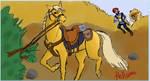 itsaliongetonthehorse by hellsion