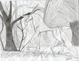 winged unicorn by hellsion