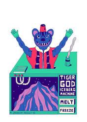 TIGER GOD ICEBERG MACHINE by laresistance