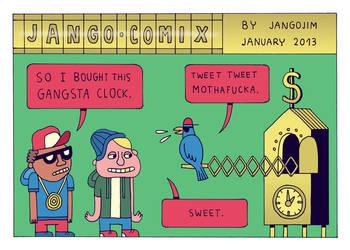 JANGO COMIX - GANGSTA CLOCK by laresistance