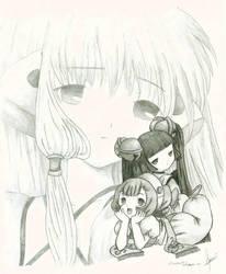 chobits girl by saouif