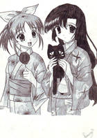 anime summer girls by saouif