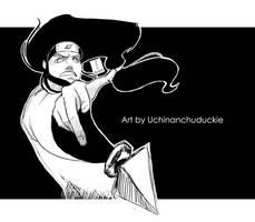 Neji on the brain black bg by UchinanchuDuckie