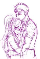 Cid and Shera by CrimsonSun