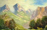 Mountain Scene by einlanzerII
