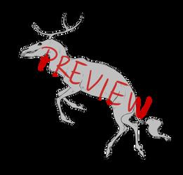 Skull Deer Lineart Base by Wouv